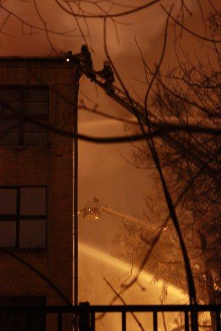 Пожар в 1-ом корпусе, 26.12.08