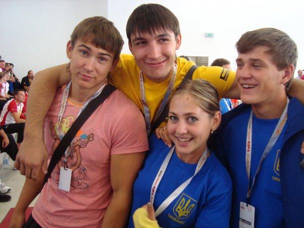 Artem Taynov, Evgeny Prudnik, Anastasia Goncharenko - World Armwrestling Championships, Italy 2009