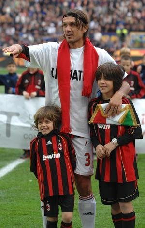 Photo of Paolo Maldini & his  Son  Daniel Maldini