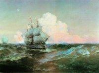 """Айвазовский.  Корабль  """"Двенадцать Апостолов """".  Как известно, после проигранной Россией Крымской войны по Парижскому..."""