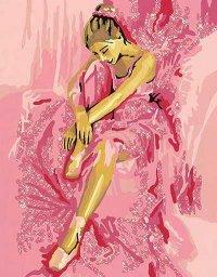 RAVENSBURGER :: Раскраска сидящая балерина.  Арт.  28610.