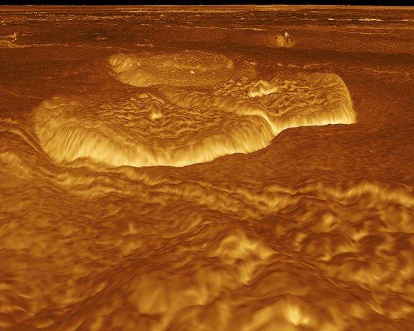 Трёхмерное изображение участка поверхности Венеры