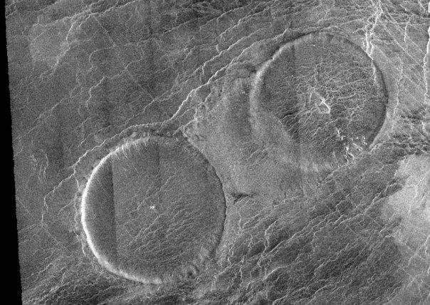 Купола вулканов на Венере