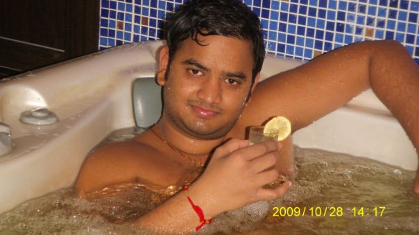 Saurav Shinde: Me in Sauna Aragon