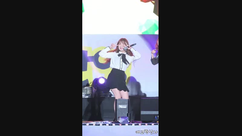 · Fancam · 180916 · OH MY GIRL - A-ing (Seunghee focus) · 2018 Anyang Citizen Festival ·