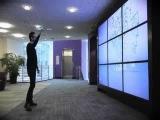 Интерактивная стена в холле Yahoo