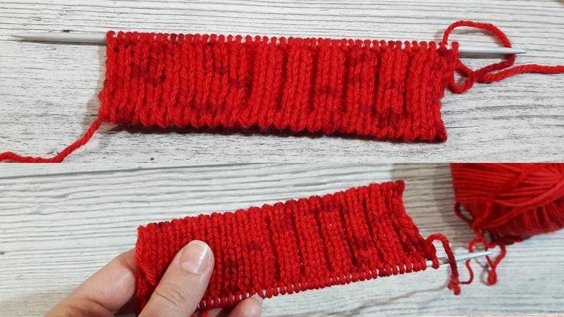 Фабричный метод набора петель для резинки 1x1 и 2x2.