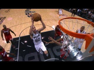 Manu Ginobili's up-fake & dunk in Game 3!