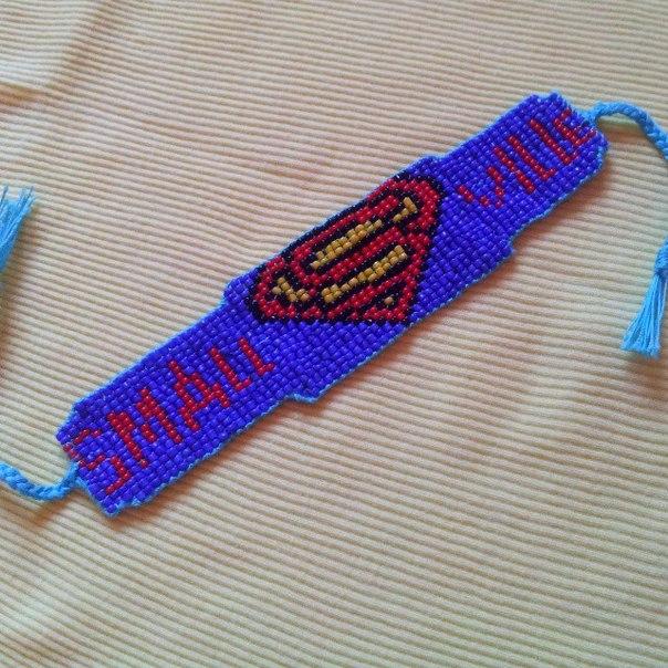 Фенечка супермен-смоллвилль