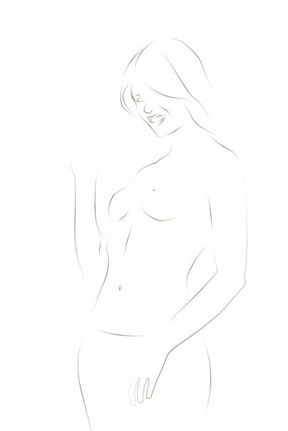 зарисовка pen tool` ом
