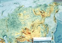Карта Сибири от Урала до Тихого океана, 1998 г.