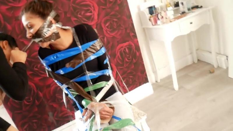 DUCT TAPE CHALLENGE PRANK BACKFIRES!! (SHE GOT US BACK) ♡Iram Harisa♡