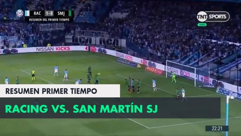 Resumen Primer Tiempo Racing vs San Martín SJ | Fecha 15 - Superliga Argentina 20182019