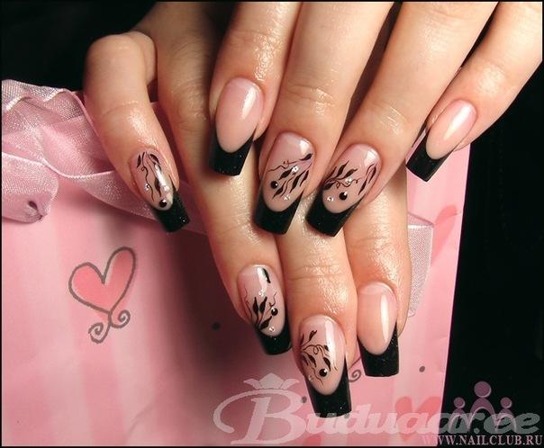 Рисунки на ногти квадратный френч