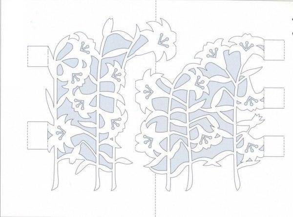 Киригами открытки шаблоны на день рождения 22