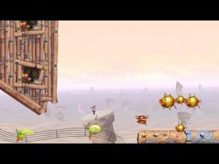 45 - Прохождение Rayman Origins - Гонка 7 Отлаженное сокровище - Рокочущие пещеры