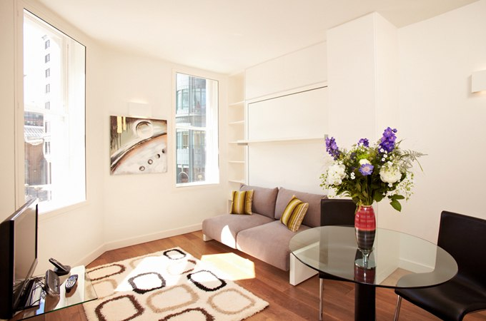 Маленькая квартира-студия 22 м в Лондоне / Великобритания - http://kvartirastudio.