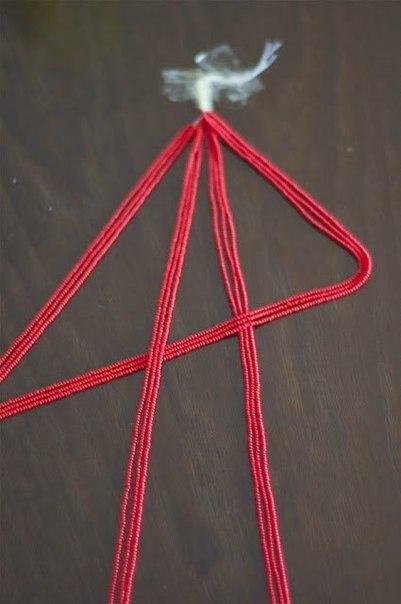 Ожерелье из бисера своими руками.  МК.  Магия декора.  Автор: Дизайнер.  Рубрика.