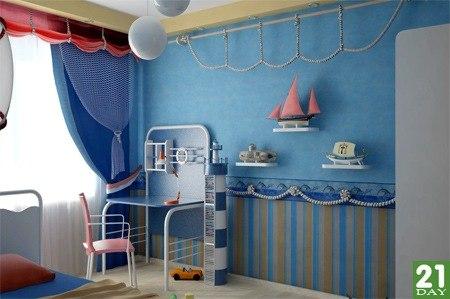 Детская комната в морском стиле своими руками
