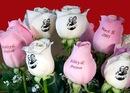 нанесение надписей, поздравлений и фотографий на цветы Уфа фото2
