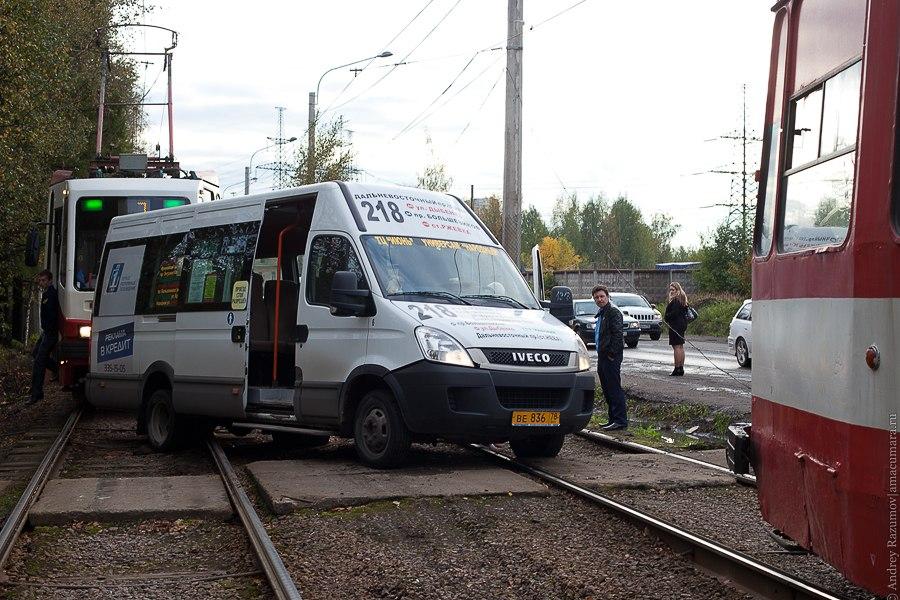 ДТП Маршрутка трамвай