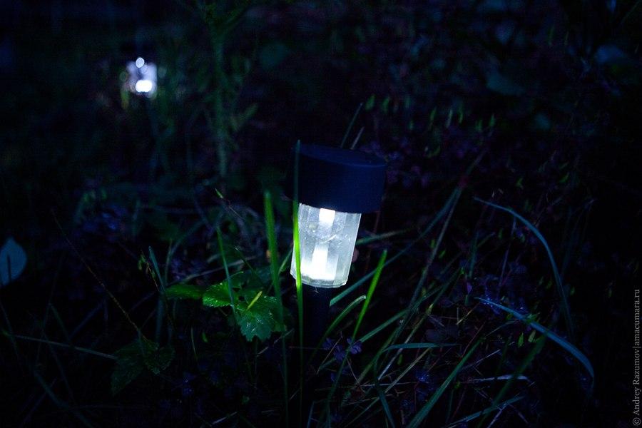 Светодиодный садово-парковый светильник на солнечной батарее