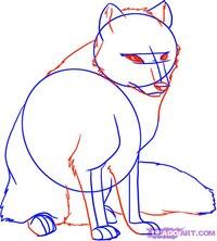 Как нарисовать полярную Лисицу карандашом поэтапно.