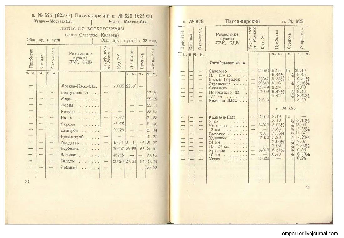 Служебное расписание пассажирских поездов на Савеловском направлении(Ретро) JI6JMh6DB1A