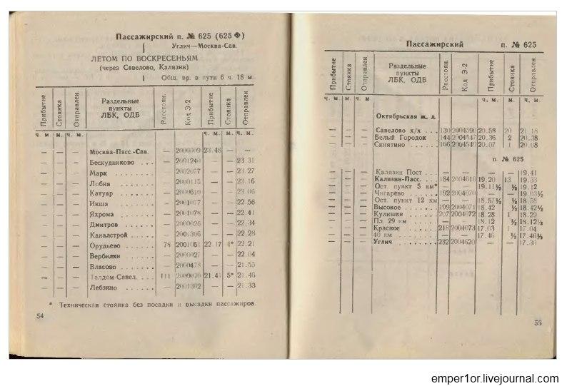 Служебное расписание пассажирских поездов на Савеловском направлении(Ретро) 1Xu1R8vnMrs