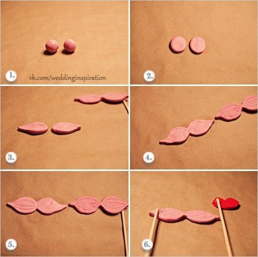 Усы и губки из пластилина своими руками для вашей фотосессии. Обсуждение на LiveInternet - Российский Сервис Онлайн-Дневников