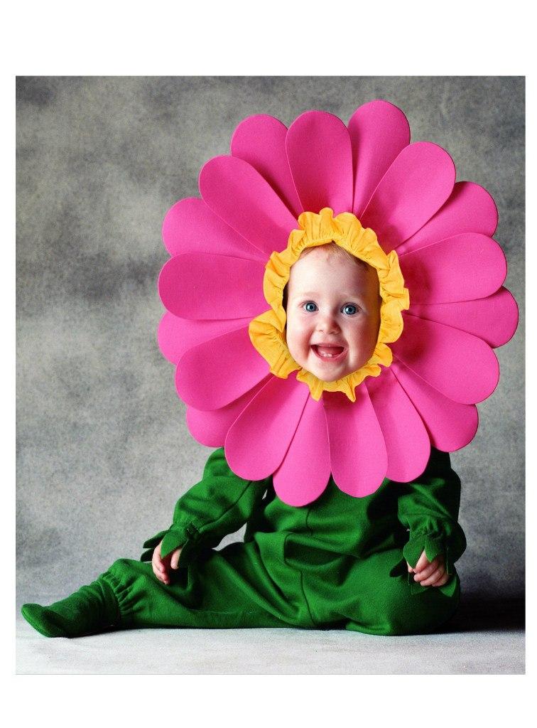 Смешные фото детей с цветами