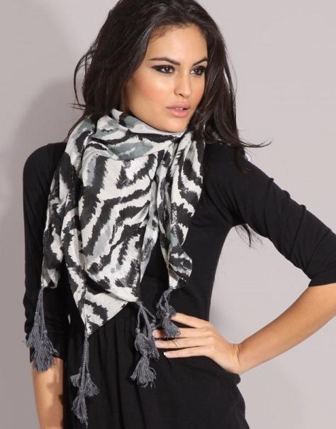 Как завязать платок или шарф в картинках, видео.