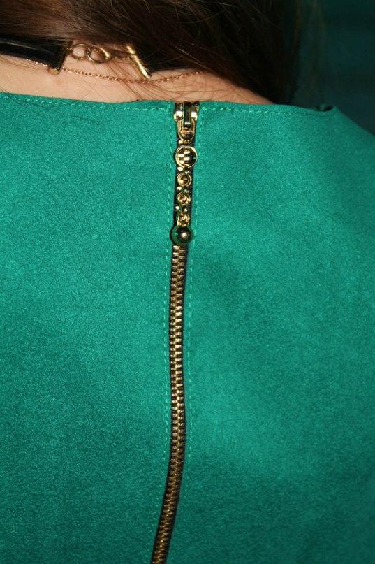 Зеленое платье zara