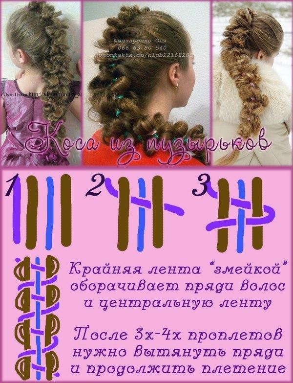 Видео уроки по плетению кос из 5