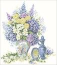СХЕМА.  Цветы и парфюм.  Вышивка крестом, схемы.