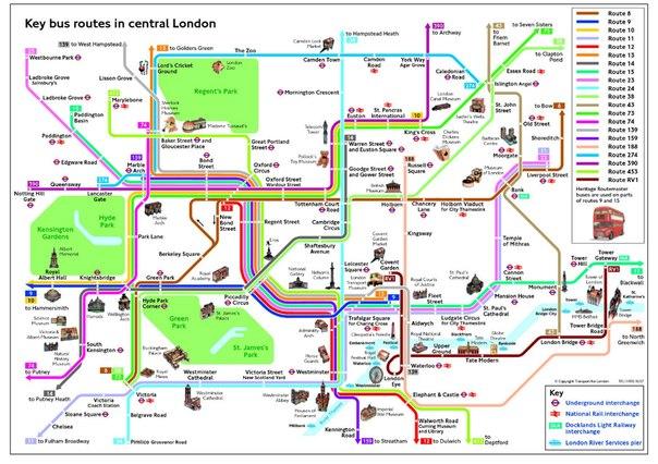Схема автобусных маршрутов