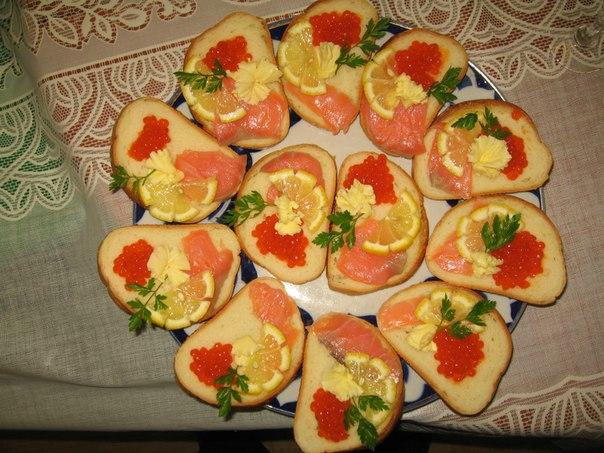 Бутерброды на стол рецепты с фото