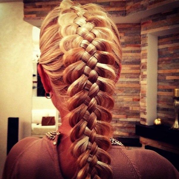 прически коса из пяти прядей фото