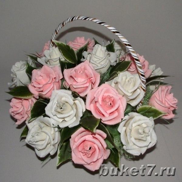 Букет из роз на свадьбу своими руками мастер класс