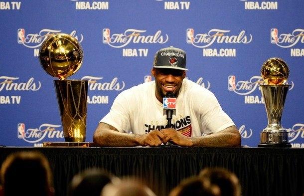 Леброн после финальной игра НБА 2012