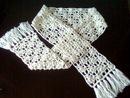 Схема вязания красивого ажурного шарфа крючком.