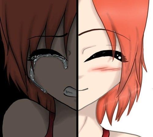 грустные картинки аниме со слезами: