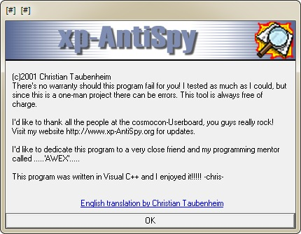 An absolute must for all xp users is a little nugget called xp-antispy