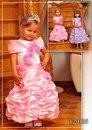 Лиф и юбочка украшены множеством прекрасных роз.  Детские бальные платья.
