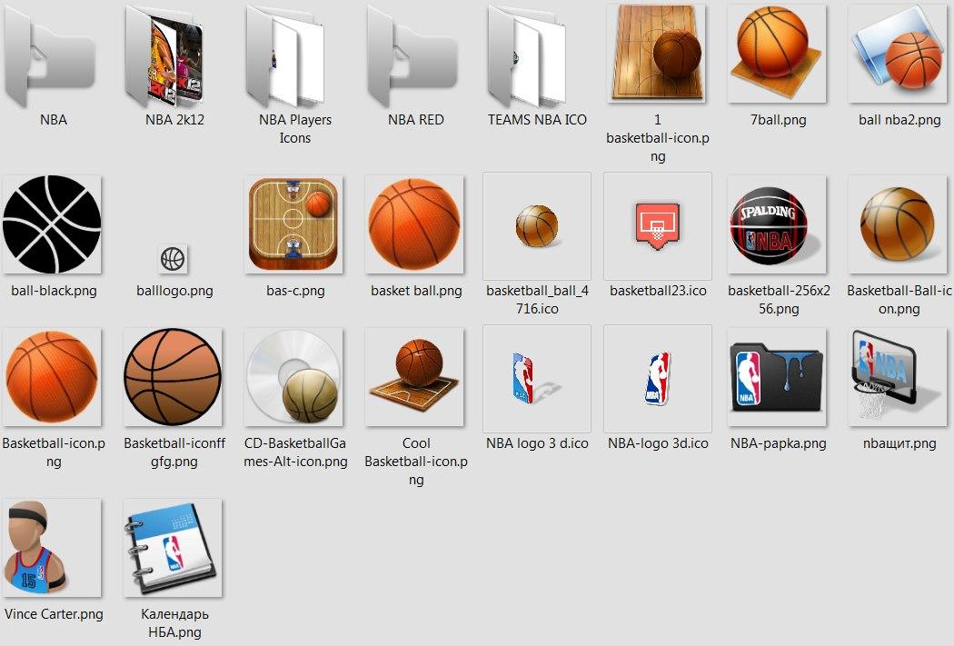 баскетбольные иконки 2012