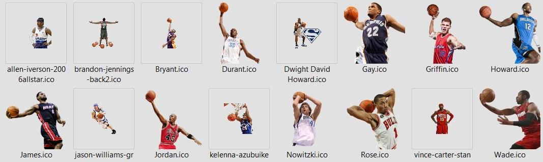 игроки нба иконки для файлов 2012