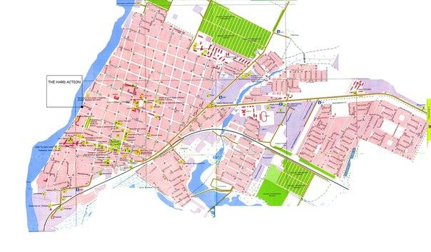 Приморско-Ахтарский р-он Краснодарского края, город Приморско-Ахтарск на Спутниковая карта г.Город...