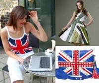 Одежда с британским флагом пришла к.