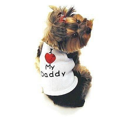 Товары для собак Monkey Daze I LOVE MY DADDY майка - одежда для собак.