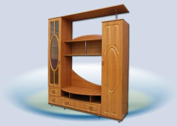 Главный плюс мебельной стенки - ее вместительность и удобство.